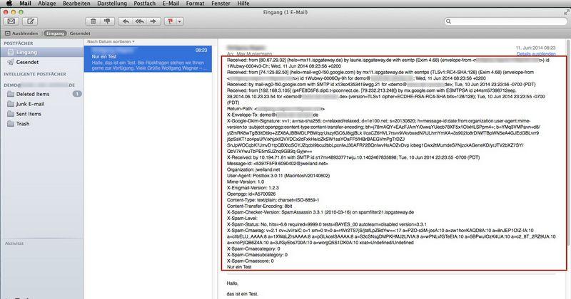 windows live mail nur kopfzeilen