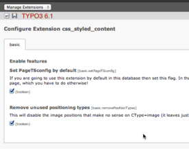 Position des Buttons in TYPO3 6.1