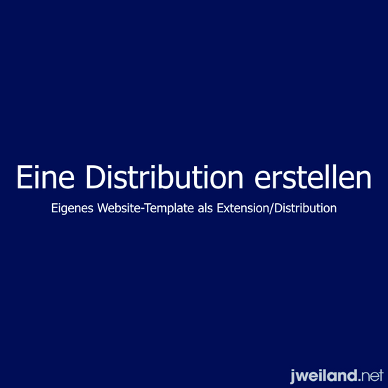 Templates als Distribution
