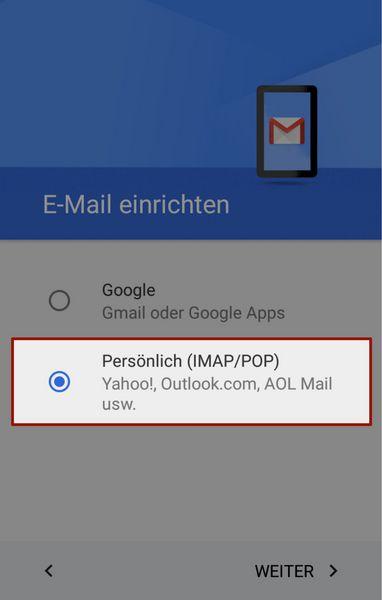 E-Mail Konten in Android einrichten - jweiland.net