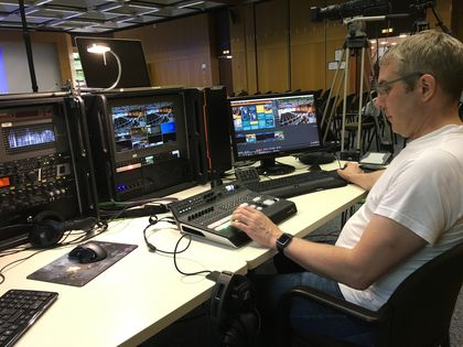 Oliver Thiele beim Live-Stream der Sessions
