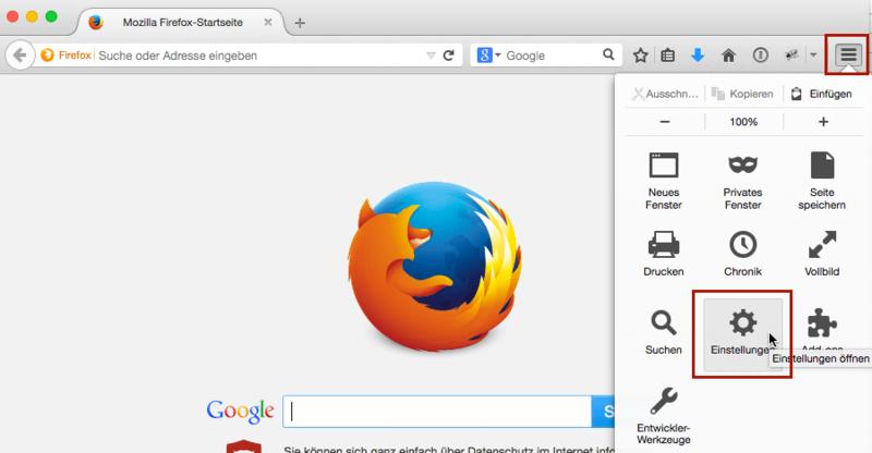 browser cache leeren mozilla