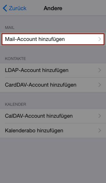 E-Mail Konten am iPhone/iPad einrichten - jweiland.net