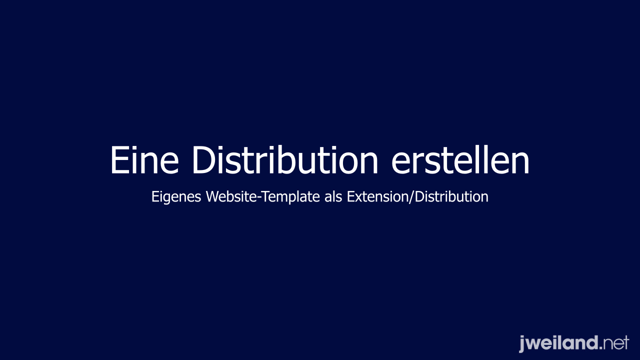 Templates Als Distribution Jweiland