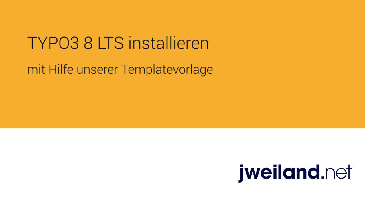 TYPO3 mit Hilfe der Template-Vorlagen installieren - jweiland.net